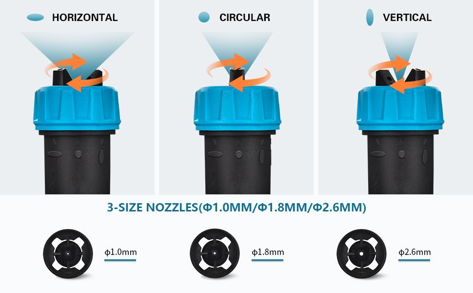 3 size nozzles