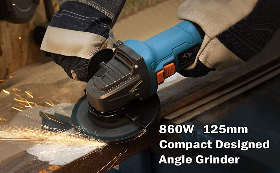 compact designed angle grinder