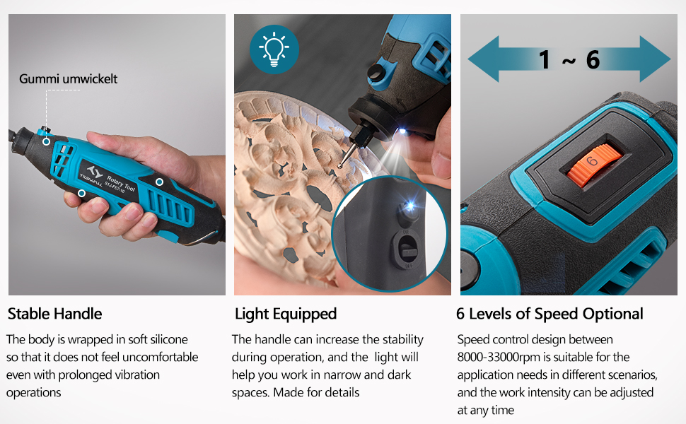 operating rotary tool kit