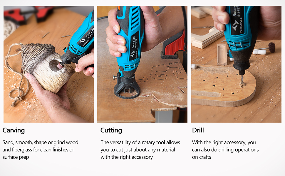 uses of the rotary tool kit